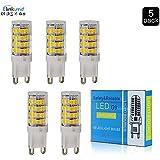 Elinkume® G9 LED Bombillas,4W Blanco cálido 3200k,330LM,Lámparas Halógenas Equivalentes a 35W, AC220-240V,5Pcs