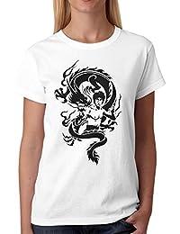 2450a55b266bff vanVerden Herren Fun T-Shirt Dragon Bruce Lee Kampfsport Drachen Tattoo Plus  Geschenkkarte