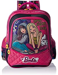 Barbie Polyester Pink And Black School Bag (Age Group :8-12 Yrs)