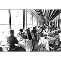 Vintage photo of People dining in the luxury French Dining