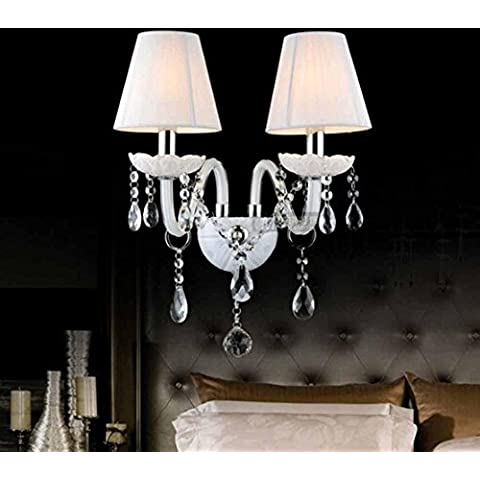 NHD-European Crystal wall in the corridor living room study bedroom lamp, pipe-type lighting lamps