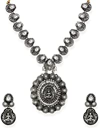 Zaveri Pearls Jewellery Set For Women (Silver) (ZPFK6603)