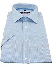 Seidensticker Herren Businesshemd Modern Kurzarm mit Kent Kragen Bügelfrei