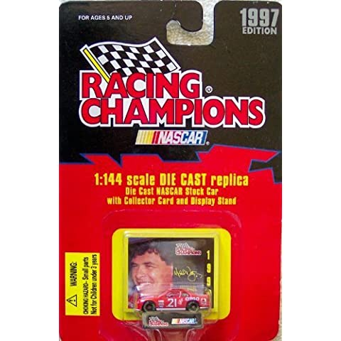 1997 Edition Racing Champions Michael Waltrip #21 1:144 Scale Die Cast Replica w/Collector Card and Display Stand by Racing Champions