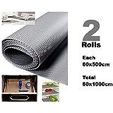Premium Multipurpose Textured Super Strong Anti-Slip Anti-Skid Eva Mat Liner - Size 60x1000Cm (2 Rolls Of 5 Meters) - Grey