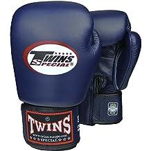 TWINS Boxhandschuhe, Leder, blau, Muay Thai, leather boxing gloves, MMA