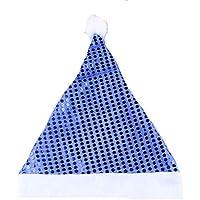 HEJIANGTAO Adorno de Navidad para niños con Lentejuelas, sin Tejer, Azul