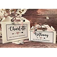 Personalised Will You Be My Bridesmaid Flowergirl Maid of Honour Gift Box Arrow
