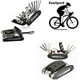 FASTPED® Unisex 15 in 1 Bicycle Repair Tools Sets Multi-Purpose Wrench Mountain Bike Toolkit
