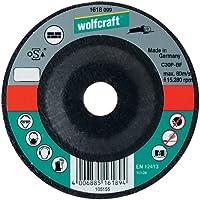 Wolfcraft 1621099 1621099-1 Disco de Cortar para Piedra, Cubo deportado, Granel diam. 115 x 2,5 x 22,23 mm