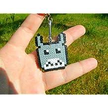 llavero Totoro - Studio Ghibli • Hama Beads • Pixel/art • Perler beads • Hama mini Midi