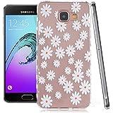 Ouluyun Coque Silicone Gel pour Samsung Galaxy A3 (2016) SM-A310F(daisy), Étui Housse de Protection TPU Back Case Cover motif coloré + Gratuit stylet l'écran aléatoire universelle