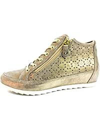 ENVAL SOFT 12559 Taupe Scarpa Donna Sneaker Zeppa Interna Pelle Made in  Italy f8d6aeb19b7