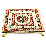 Udaipuri Handicraft Wood chowki (12 inch)