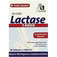 Avitale Lactase 14000 FCC, 80 Tabletten im Spender, 1er Pack (1 x 30 g) preisvergleich bei billige-tabletten.eu