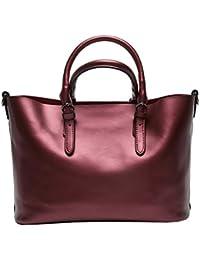 Dissa Q0604 femme sac à main cuir solide Sacs portés main,34x23.5x16.5cm (L x H x T)