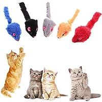 Broadroot 20 juguetes interactivos para gato, forma de ratón de peluche, juguete para gatito, juguete interactivo para gato 3,94 x 1,18 x 0,98