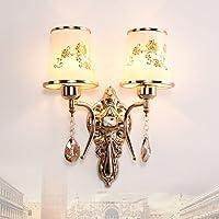 ZQ@QX Parete decorativa tradizionale semplice hotel café ristorante lampada da parete Camera da letto lampada da comodino, Lampade da parete corridoio , two