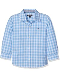 Tommy Hilfiger Slub Check Shirt L/S, Chemise Garçon