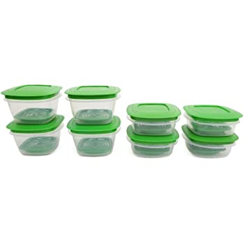 Cutting Edge VFtrans17_Gr Cutting EDGE Veggie Fresh Refrigerator Storage Container Combo (Set of 8)(Green)
