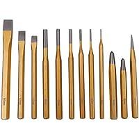 CCLIFE 12 piezas Juego de botadores/cinceles/ granetes