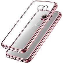 Samsung Galaxy S7 Hülle , Ubegood Kratzfeste Plating TPU Case für Samsung Galaxy S7 Case Schutzhülle Silikon Case Durchsichtig HandyHülle für Samsung Galaxy S7 Bumper Case (Rose)