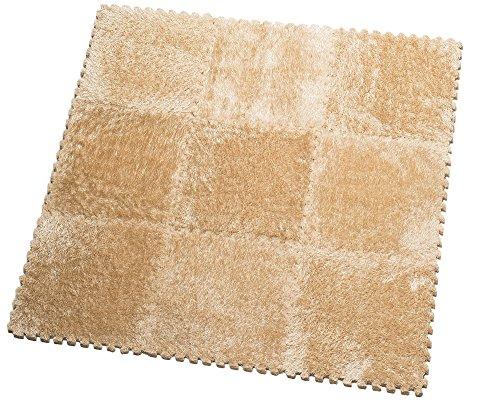 *HemingWeigh Fuzzy-Bereichs-Wolldecke – 9 Flauschiger Teppichfliesen Für Kinder – (Sand)*