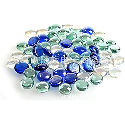 ZPP-Cordón flat glass bead color jardinería para boda tienda de acuarios decorativos acuario tanque horizontal