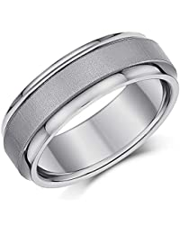 Stainless Steel Brown Plated Brushed Center 8mm Wedding Ring Band Size 10.00 Latest Technology Jewelry & Watches
