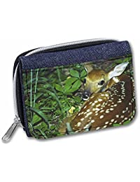 Advanta - Denim Wallet Baby Bambi Deer Girls/Ladies Purse ADE-3JW Credit Card Case, 13 cm, Denim Blue