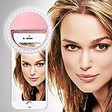 Spyrox-Sony Xperia XZs-Selfie Ring Licht 36 LED Licht Ring ergänzende Selfie Beleuchtung Nacht oder Dunkelheit Selfie Verbesserung für Fotografie 3 Helligkeitsstufen einstellbar-Pink