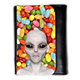Cuero Original Sujetadora Tarjeta Crédito Identificación Dinero // Q05510654 Alienígena nuevo Caramelo de color // Medium Size Wallet