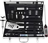 Best Grill Tool Sets - grilljoy BBQ Grill Tool Set, 25pcs Stainless Steel Review