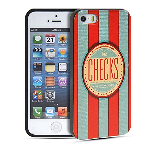 iPhone 5 5S Coque,COOLKE [001] Fashion Trend Coque de protection en TPU Silicone Gel arriere Etui Housse Shell Molle Case Cover Pour Apple iPhone 5 5S 001