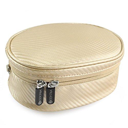 Geekria Soft Shell sacchetto per Beats SOLO2cuffie, SOLO3, studio, cuffie Wireless, solo, solo HD, Skullcandy Crusher, Bose QC35e più/borsa/custodia da viaggio (oro)