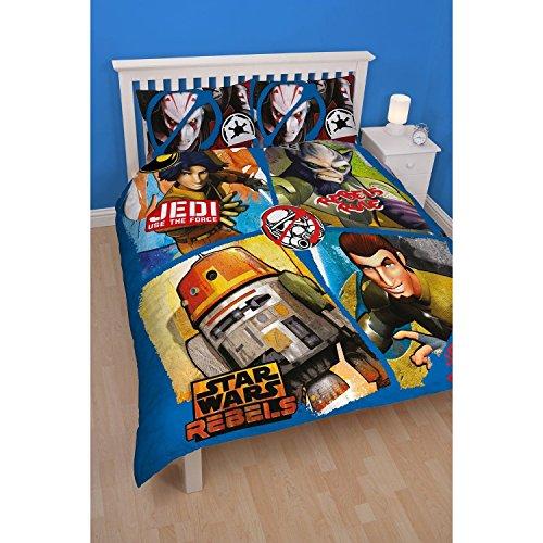 Star Wars - juego de fundas nórdico/edredón Reversible Modelo Rebels para niños (Cama doble/Multicolor)