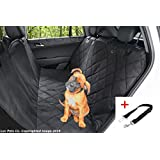 Luv Pets Co. Luxury Dog Seat Cover- Dog Hammock- Travel Car Seat Cover- Rear Seat Protector- Heavy Duty & Waterproof with Side flaps & A Free Safety Seat Belt