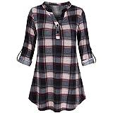 IMJONO Damen Sommer Kurzarm T-Shirt V-Ausschnitt mit Schnürung Vorne Oberteil Tops Bluse Shirt(EU-34/CN-S,Schwarz)