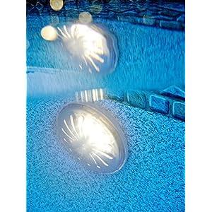 Gre Proiettore LED per Piscina Fuori Terra in Acciaio, 0,8 W, 2 unità PLED2