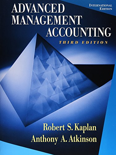 Advanced Management Accounting: International Edition (Prentice Hall International Editions) por Robert Steven Kaplan