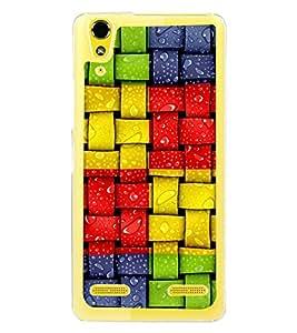 Colourful Weave Pattern 2D Hard Polycarbonate Designer Back Case Cover for Lenovo A6000 Plus :: Lenovo A6000+ :: Lenovo A6000