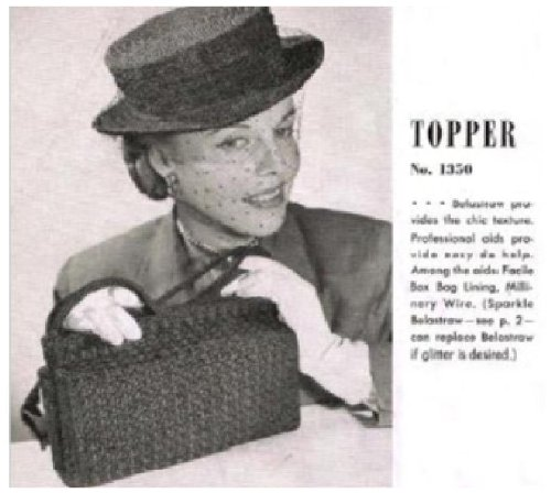 #0571 TOPPER AND BAG VINTAGE CROCHET PATTERN (Single Patterns) (English Edition) -