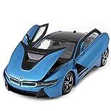 Sunta 1:24 Lamborghini modèle de Voiture en Alliage empoisonné,Sky Blue BMW I8
