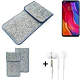 K-S-Trade® Protective Felt Case For Xiaomi Mi8 Youth