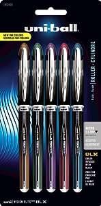 Uni-ball Vision Elite BLX Series Stick Micro Point 5 Rollerball Pens, Colored Ink Pens (1832410), Fournitures de bureau