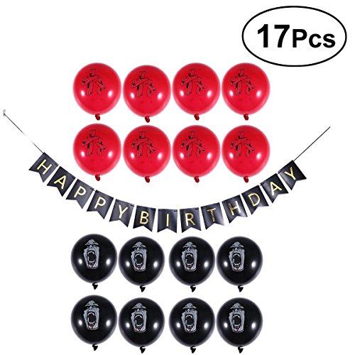 (BESTOYARD Halloween Zombie Geburtstag Party Supplies Set Latex Balloons Scary Requisiten Zombie Geburtstag Geschenke für Halloween Party Dekorationen, Packung mit 17)