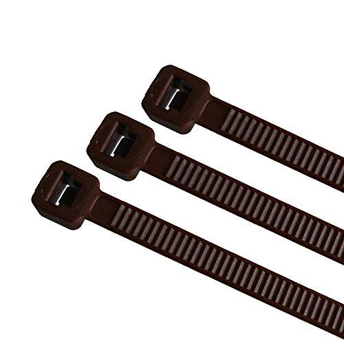 Preisvergleich Produktbild 100 x Kabelbinder 4,8x200mm farbig, Farbe:braun