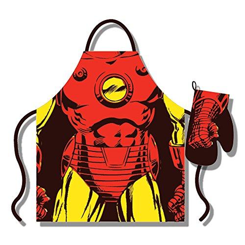 Marvel Iron Man - Juego de Delantal y Guantes