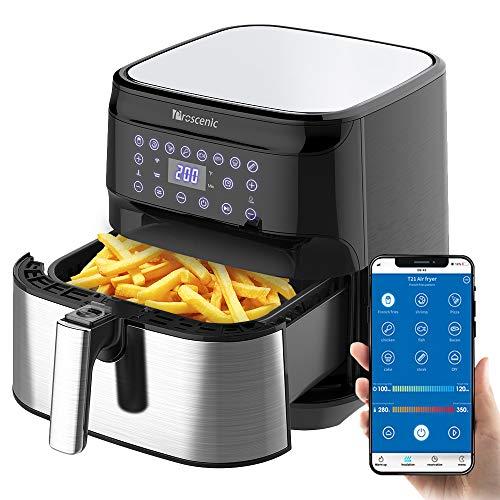 Proscenic Freidora de Aire Caliente sin Aceite 5.5L controlada por App y Alexa, Cuenta con una Variedad...
