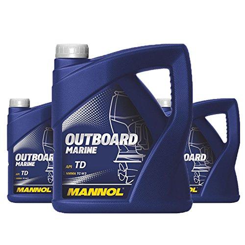 MANNOL 3 x 4L Outboard Marine/API TD NMMA TC-W3 2-Takt Bootsmotoröl (Outboard-Öl)